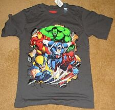 CHILDRENS PLACE T-SHIRT T XL GRAY AVENGERS SPIDERMAN WOLVERINE HULK THOR MARVEL