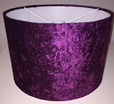 Handmade Lampshade in a Crushed Velvet effect fabric Purple / Grape 20cm
