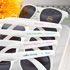 60 - Personalized White Sunglasses - Beach Themed Wedding and Party Favor