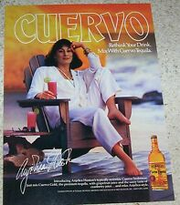 1987 ad page - Cuervo Gold Tequila seabreeze - ANJELICA HUSTON vintage PRINT AD