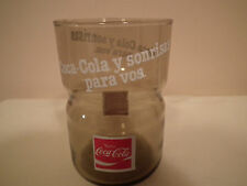 "Spanish Coca Cola Drinking Glass ~ ""y sonrisas para vos""  (A Smile for You) COKE"