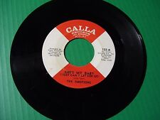 "NORTHERN SOUL,, THE EMOTIONS  Rare 45 ""SHE'S MY BABY""  1966  Calla records"