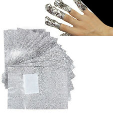 Fantastic 100Pcs Foil Nail Art Soak Off Acrylic Gel Polish Nail Wraps Remover
