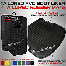 Chevrolet AVEO SALOON 2004 - 2006 Tailored PVC Boot Liner + Rubber Car Mats