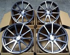"19"" ME56 MULTI SPOKE GUNMETAL ALLOY WHEELS 5X112 TO FIT MERCEDES C-CLASS C63 AMG"