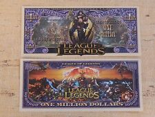 LEAGUE of LEGENDS Fantasy Super Heroes    $1,000,000 One Million Dollar Bill USA