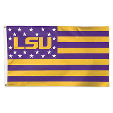 Louisiana State University Stars & Stripes NCAA Flag - Deluxe 3' X 5' LSU Tigers