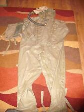 """Polish Poland ARMY NBC Rubber OVER SUIT 5'10"""" approx Large Rubber mask Halloween"""