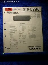 Sony Service Manual STR DE305 Receiver  (#2518)