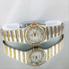 Omega Constellation MOP Diamond Bezel Watch Omega Authentic Factoty Diamonds