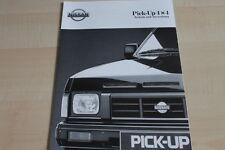 117856) Nissan Pick-Up 4x4 - tech. Daten & Ausstattungen - Prospekt 03/1991