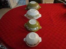 PUREX SPRING BLOSSOM GREEN NESTING 4 BOWL MIXING SET MADE IN U.S.A.
