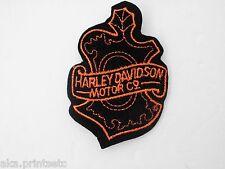 Harley Davidson Vintage PATCH HD LICENSED BLACK OAK LEAF DESIGN