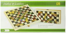 Folding Wooden Snakes and Ladders Game , New, Free Shipping