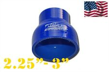 "Silicone Straight Reducer Coupler Hose 57mm - 76mm 2.25"" - 3"" (4-ply) Blue"