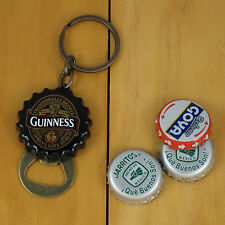 Guinness Flip Out Bottle Opener Keychain, Black Bottle Cap Style NEW!!
