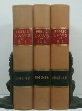 1941-1946~Public Laws of State of RI~3 LAW BOOK SET~Old Decorative Vintage Lot