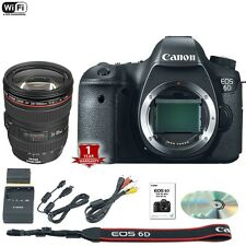 Canon EOS 6D 20.2 MP DSLR Camera Body w/ EF L IS USM 24-105mm 4L Lens Kit