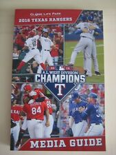 Texas Rangers 2016 Official MLB Media Guide-NEW