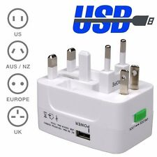 Universal International World Wide Multi Travel Plug Charger Adapter 2-USB PORT