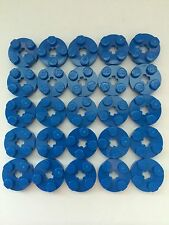 LEGO Part 4032 Lot Of 25 Blue 2x2 Round Plate With Axle Hole Pieces Bricks