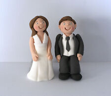Handmade Edible Wedding Bride Groom Sitting Personalised Cake Topper Decoration