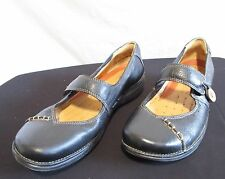 Clarks Unstructured Black Leather Mary Jane Flats/Comfort/Walking Shoes Sz 7M