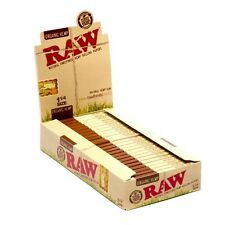 RAW Organic Hemp Natural Unrefined Hemp Rolling Papers - 1 Pack - 1 1/4