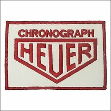 Embroidered Chronograph Heuer Patch - F1, Porsche Tag McLaren, Senna/Prost