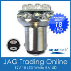 12V 18-LED BA15D 1142 WHITE GLOBE - Boat/Caravan/Auto/Anchor/Stern Light Bulb