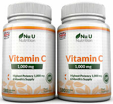 Vitamin C 1000mg Nu U 2 flaschen Super Stark 360 Tabletten 100% Garantie