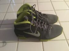 Nike Air Vis Pro 3 High Top Basketball Shoes. Gray/Green. Size 12.