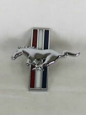 FORD MUSTANG FENDER PONY EMBLEM LH 00-03 OEM TRIBAR HORSE BADGE sign symbol logo