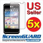 5x LG Motion 4G MS770 MetroPCS Clear LCD Screen Protector Guard Shield Covers