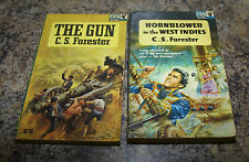 2x C S Forester Books The Gun & Hornblower in the West Indies Pan books 1965 &66