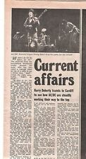 AC/DC Cardiff Top Rank 1977 concert review UK ARTICLE / clipping