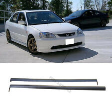 For 01-03 Honda Civic 2/4dr RS Style Black PU 2pcs Side Skirts Spoiler Bodykit