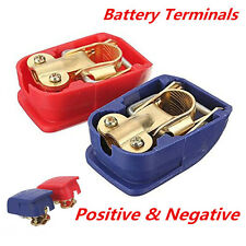 Quick Release Battery Terminals Clamps 12V Pair Car Caravan Motorhome Terminal