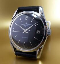 VINTAGE ULYSSE NARDIN HAND WINDING BLACK DIAL FROM 1950s WristWatch!