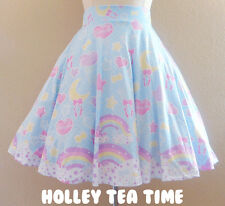 Pastel Party A-Line Skirt Blue: Kawaii, Fairy kei, Jfashion, Decora Size L