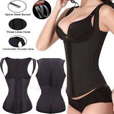 Fajas Women Slimming Shapewear Body Shaper Latex Waist Cincher Girdle Corset WX