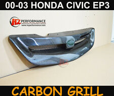 HONDA CIVIC EP2 EP3 2000 TO 2003 CARBON FIBER FRONT GRILL GRILLE | UK STOCK