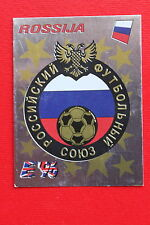 Panini EURO 96 N. 255 ROSSIJA BADGE New With BLACK back VERY GOOD!!