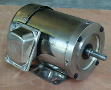 Gator Stainless Steel AC Motor 1HP 1800RPM 56C 3Phase Footed TEFC 1 Yr Warranty