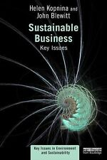 Key Issues in Environment and Sustainability: Sustainable Business