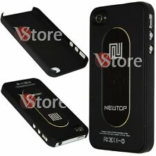 Cover Custodia Metallo Metal Nero Per Apple iPhone 4/4G/4S + Pellicola