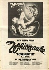 22/9/79PN58 POSTER ADVERT 15X11 WHITESNAKE : LOVEHUNTER ALBUM