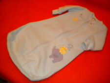 Carter's Cozy Blue Fleece Baby Bunting size 0-9  months winter outerwear.