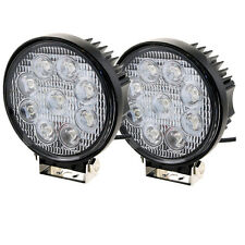 2Pcs LED Work Light 27W Round 12V 24V Spot Off-road UTV ATV Truck Tractor