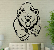 Grizzly Bear Wall Decal Vinyl Sticker Wild Animals Interior Art Decor (8bgr1)